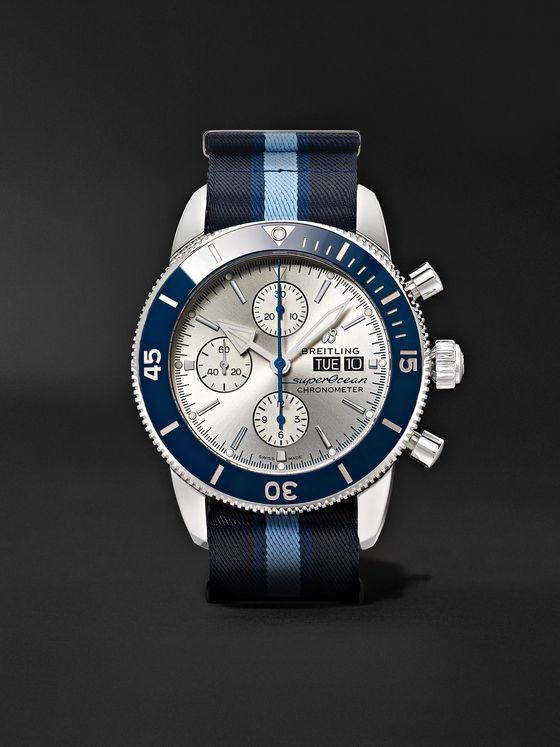 Breitling + Ocean Conservancy Superocean Heritage Limited-Edition Chronometer 44mm Stainless Steel and NATO Watch, Ref. No. A133131A1G1W1