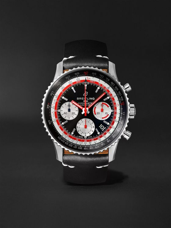 Breitling Breitling Navitimer B01 Swissair Automatic Chronograph 43mm Stainless Steel and Leather Watch