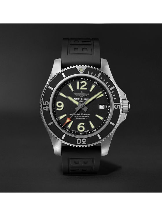 Breitling Superocean Automatic Chronometer 42mm Stainless Steel and Rubber Watch, Ref. No. A17366021B1S2