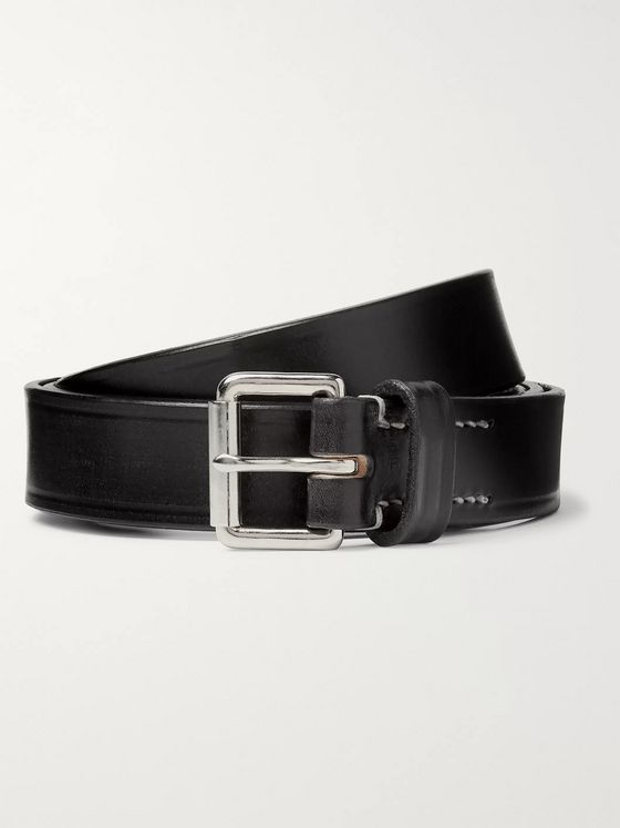 Mr P. 2.5cm Black Leather Belt
