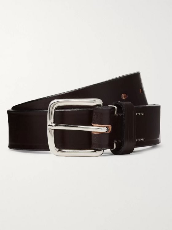 Mr P. 3cm Navy Leather Belt