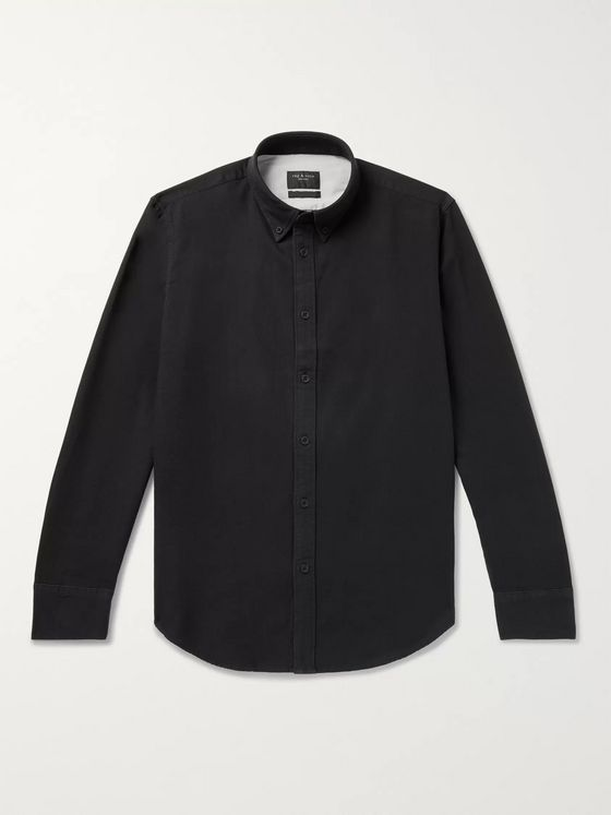 rag & bone Tomlin Slim-Fit Button-Down Collar Garment-Dyed Cotton Oxford Shirt