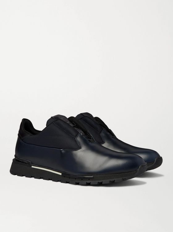 Berluti Fast Track Torino Leather and Neoprene Sneakers