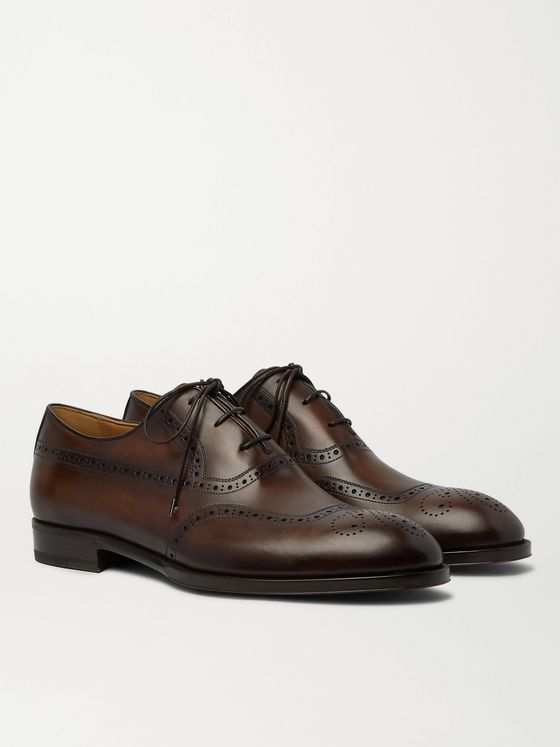 Berluti Dune Leather Wingtip Brogues