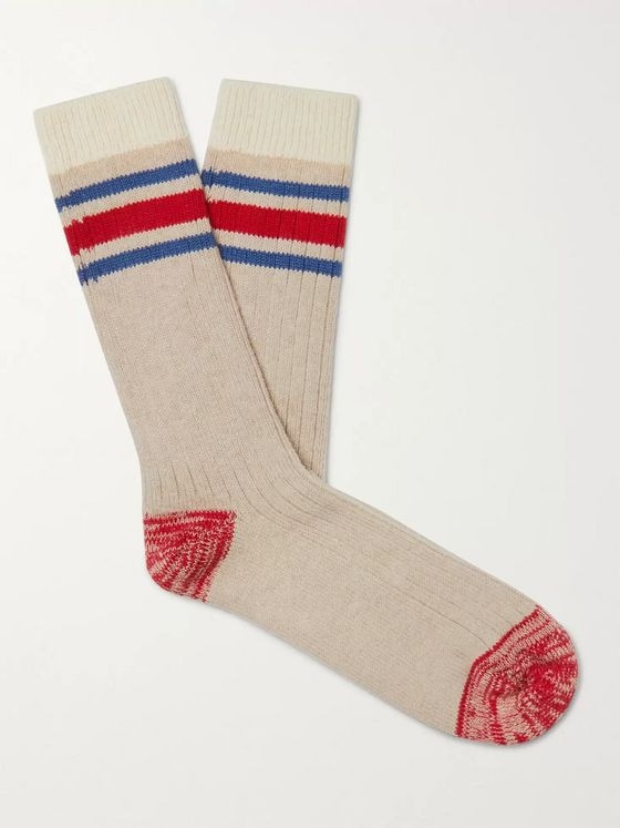 Thunders Love Nautical Turn Striped Recycled Stretch Cotton-Blend Socks