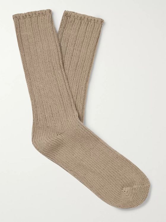 Thunders Love Ribbed Recycled Cotton-Blend Socks