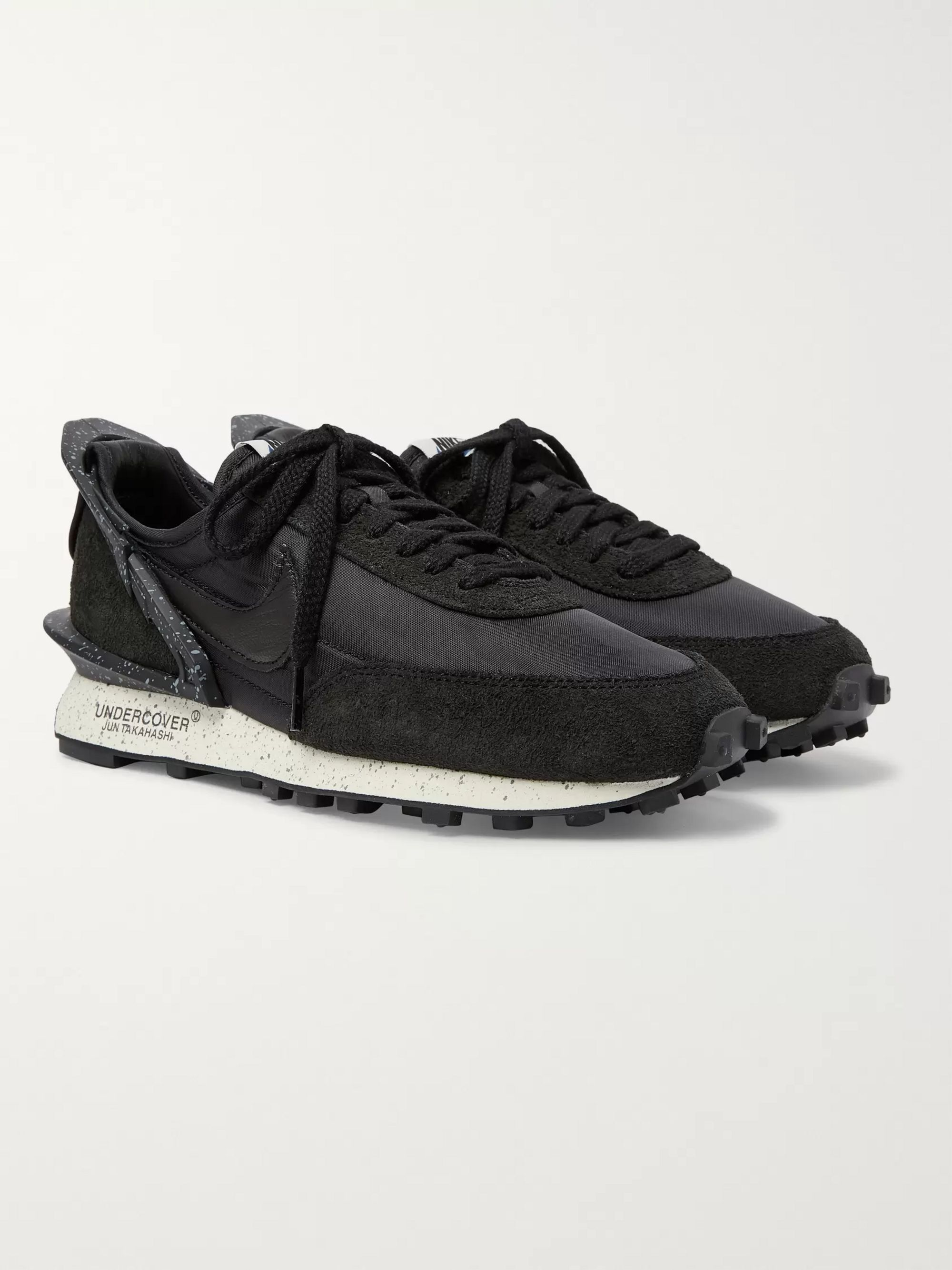 Nike + Undercover Daybreak Leather-Trimmed Nylon and Suede Sneakers