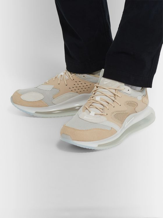 Nike Air Max 720 OBJ Mesh, Suede and Leather Sneakers
