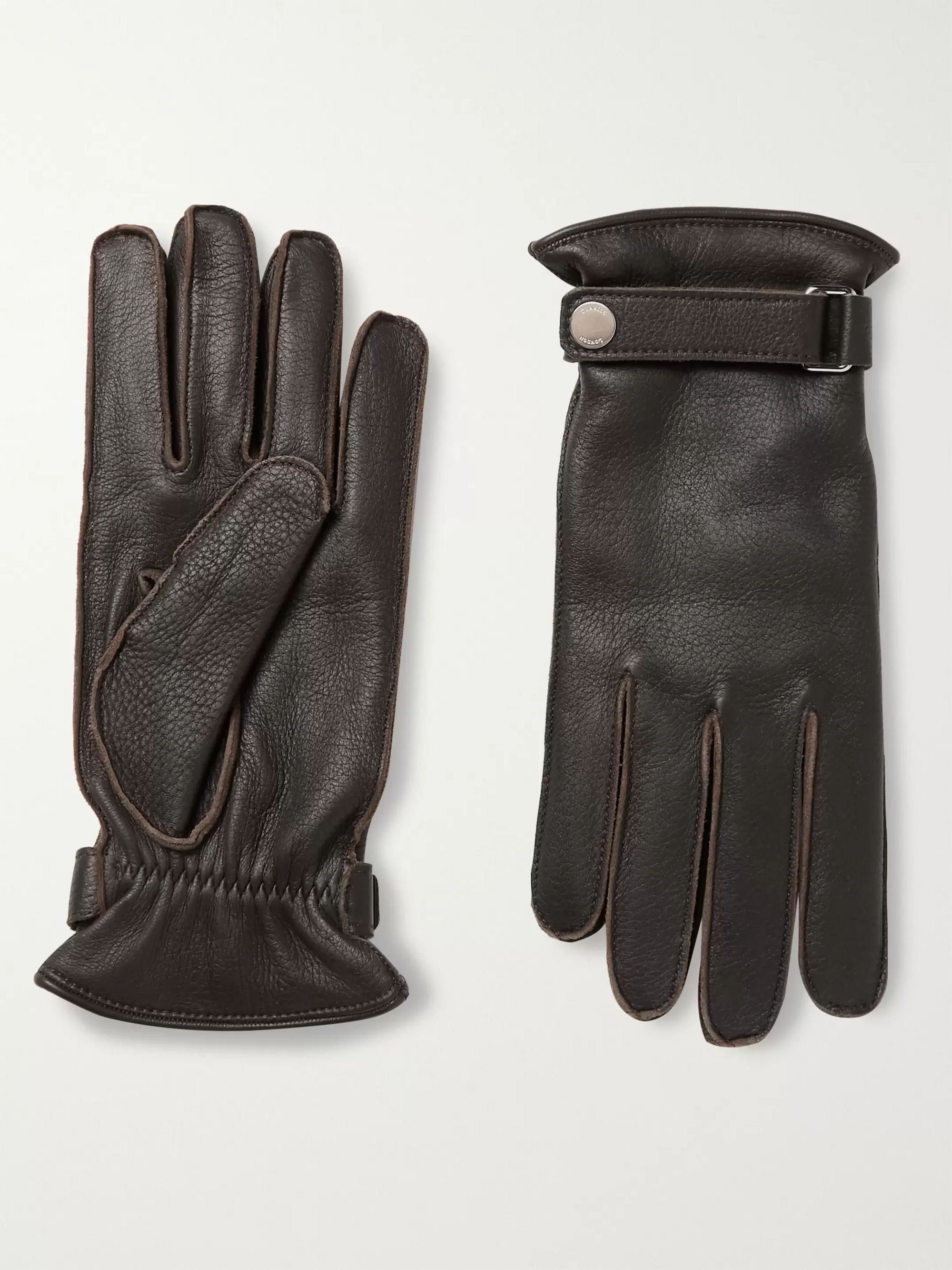 Dunhill Cashmere-Lined Leather Gloves