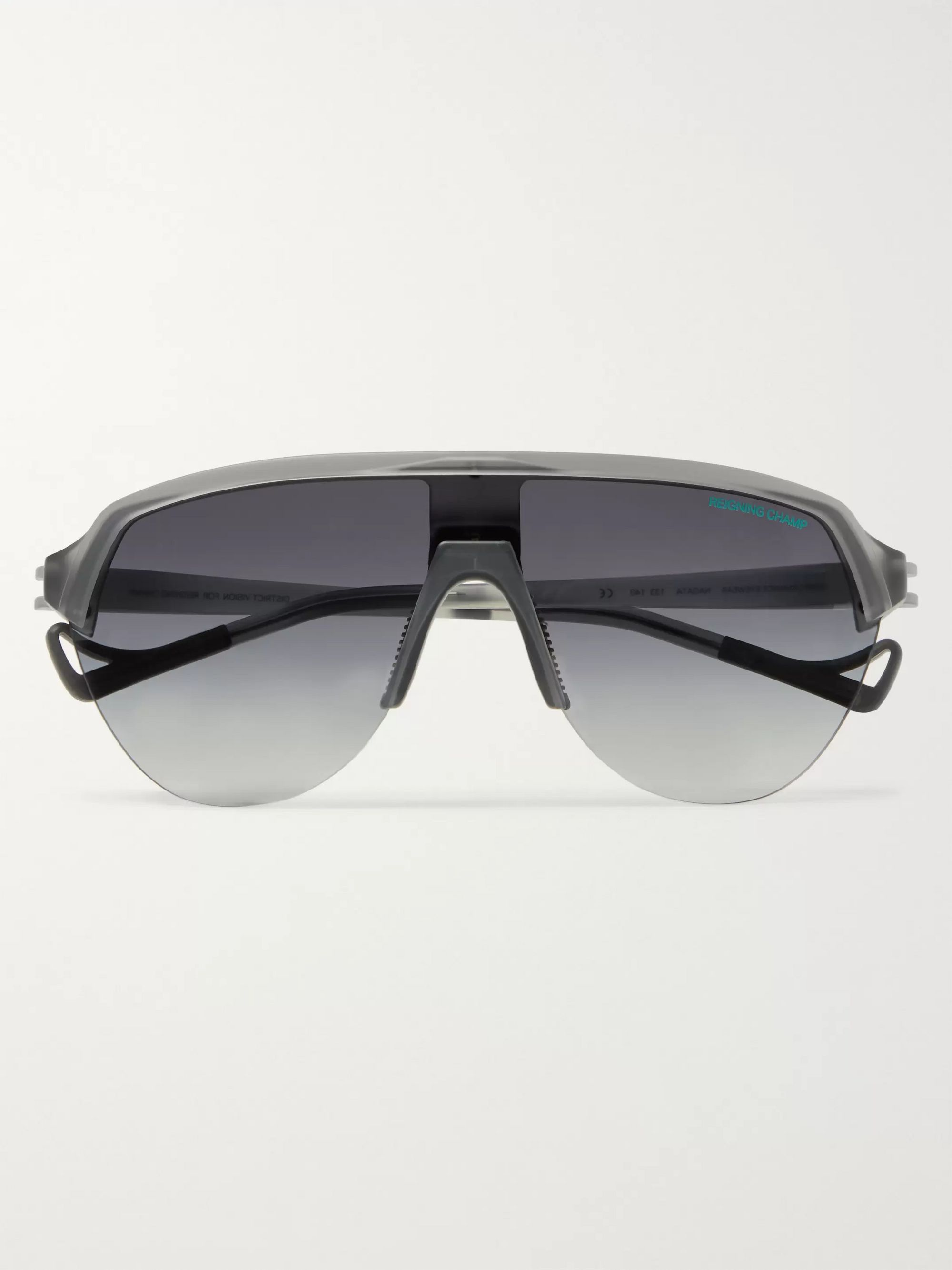 DISTRICT VISION + Reigning Champ Nagata Speed Blade Aviator-Style Acetate Sunglasses