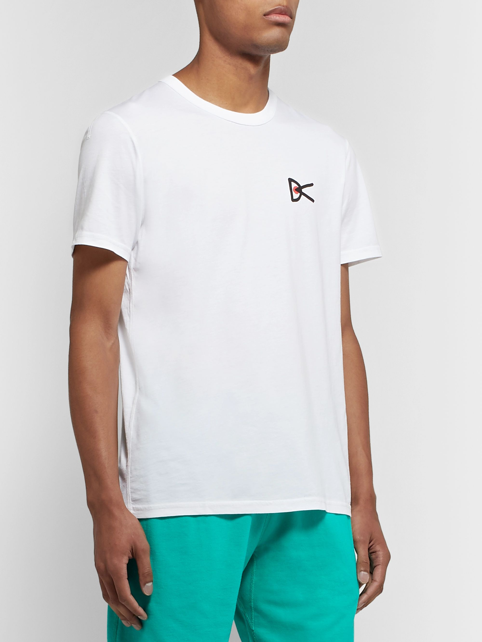 DISTRICT VISION + Reigning Champ Radical Retreat Printed Pima Cotton-Jersey T-Shirt