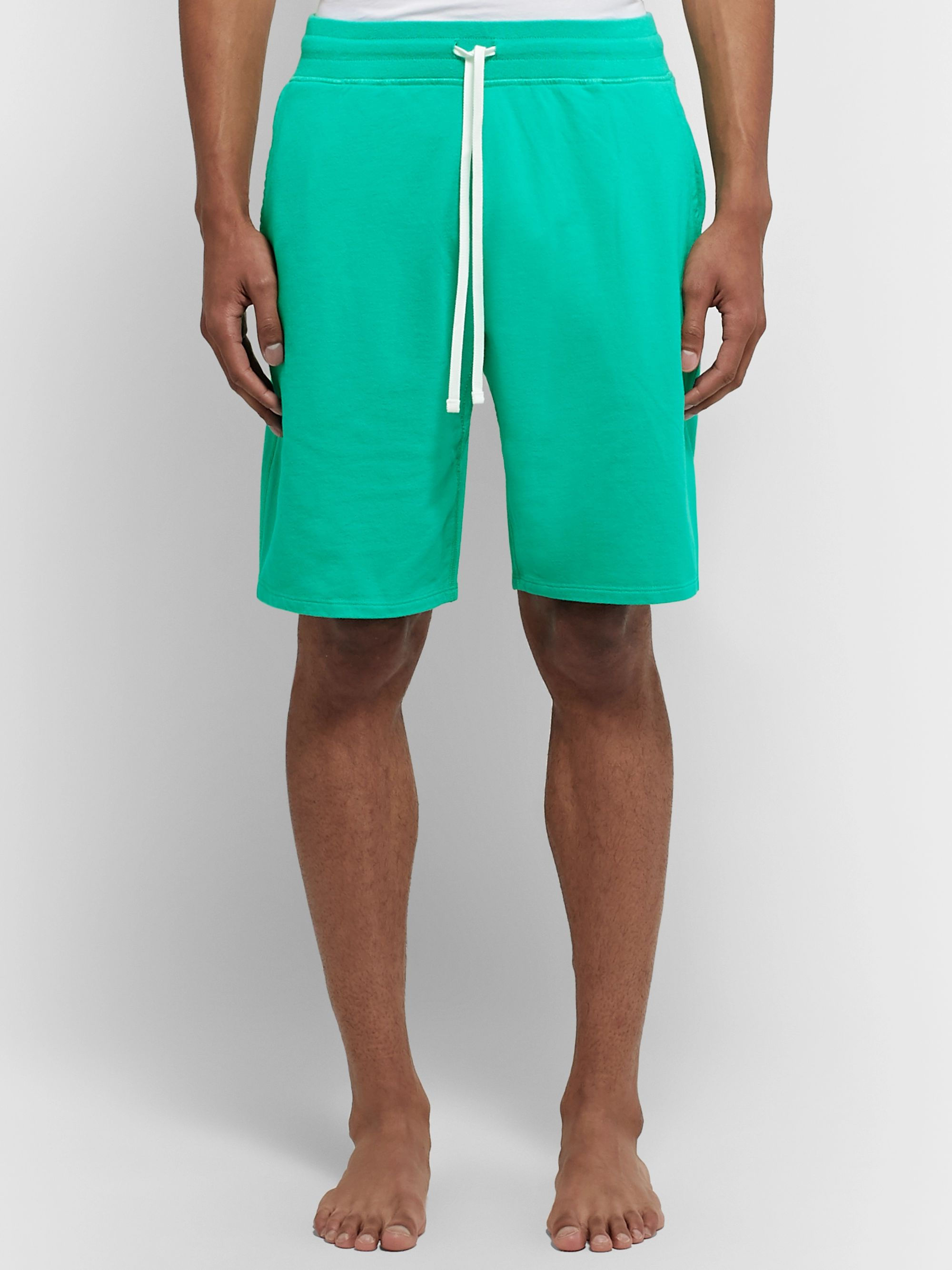 DISTRICT VISION + Reigning Champ Radical Retreat Loopback Cotton-Jersey Drawstring Shorts