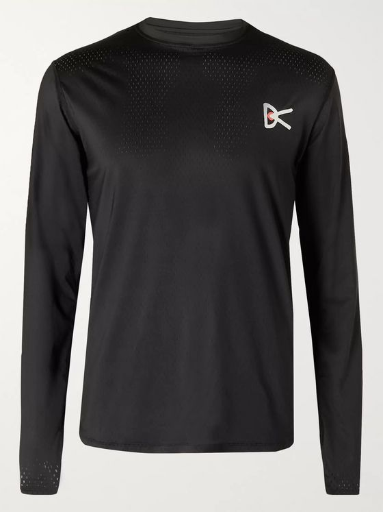DISTRICT VISION Air-Wear Logo-Print Stretch-Mesh Top