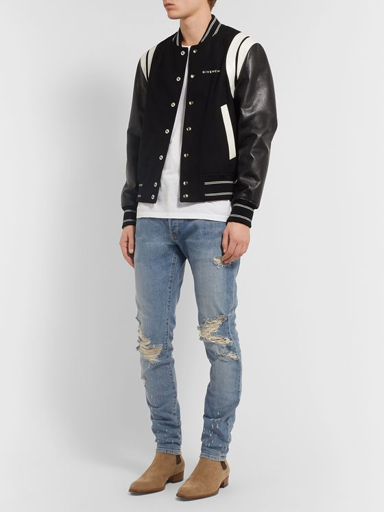 Balmain Distressed Denim Jeans