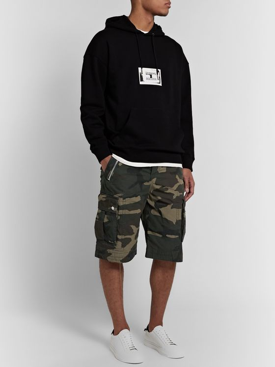 Balmain Camouflage-Print Cotton-Canvas Cargo Shorts