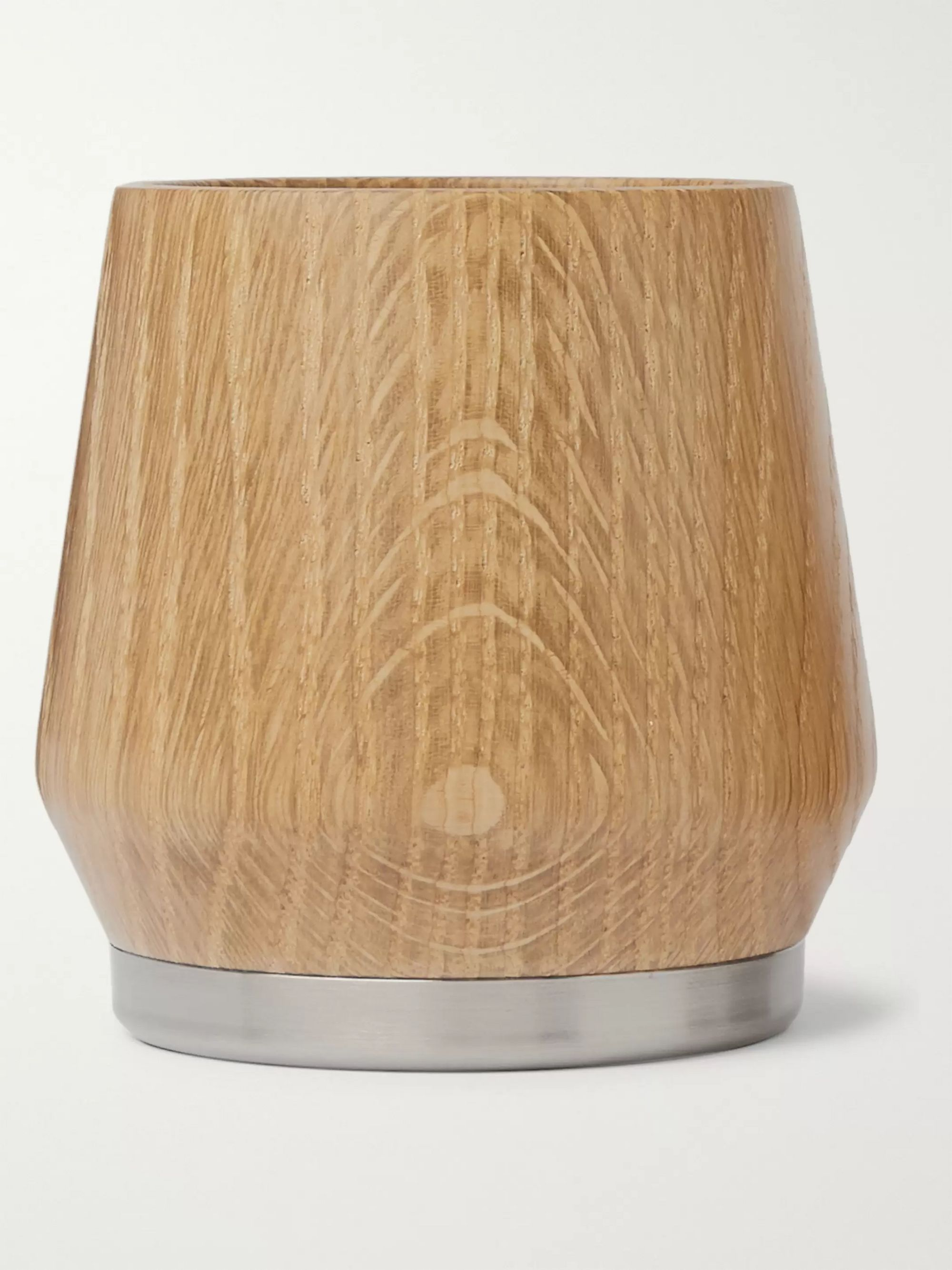 Nisnas Industries Oak and Stainless Steel Tumbler