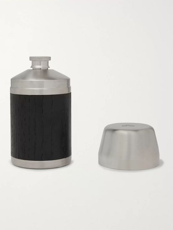Nisnas Industries Wood and Stainless Steel Flask