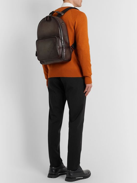 Berluti Scritto Leather Backpack