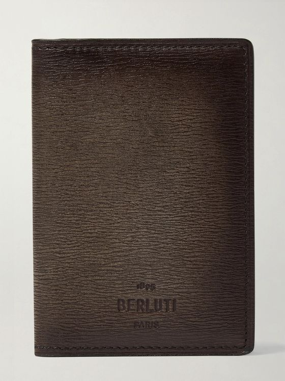 Berluti Textured-Leather Cardholder
