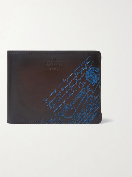 Berluti Scritto Venezia Leather Billfold Wallet