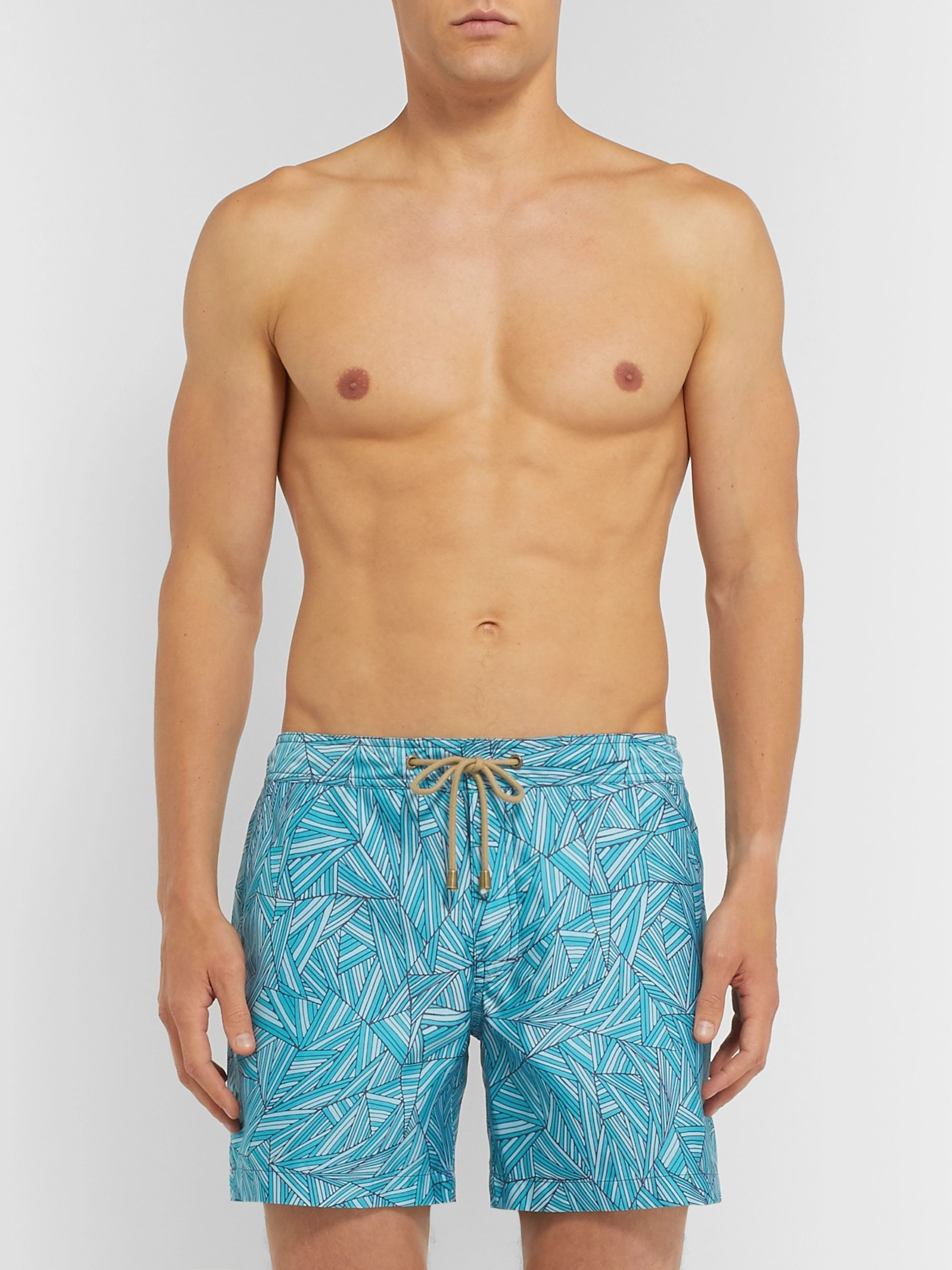 Thorsun Titan Mid-Length Printed Swim Shorts