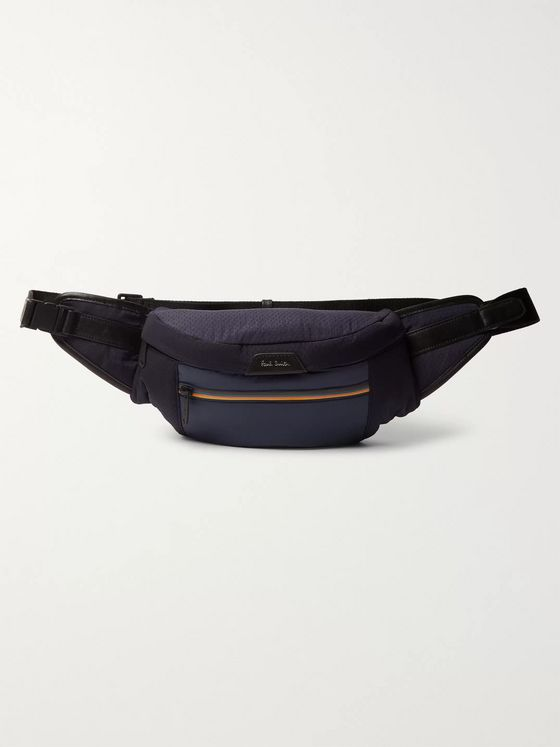 Paul Smith Leather-Trimmed Ripstop and Shell Belt Bag