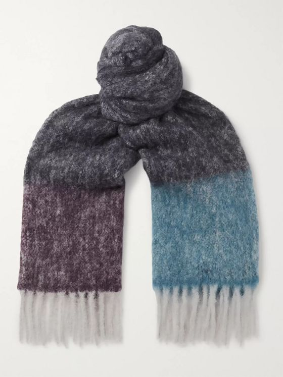 Paul Smith Ibisco Colour-Block Alpaca-Blend Scarf