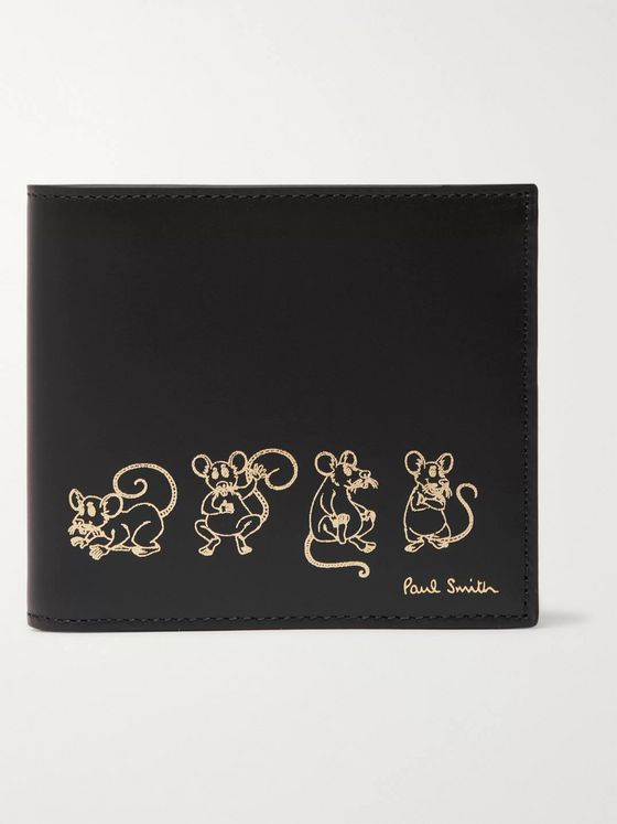 Paul Smith Printed Leather Billfold Wallet