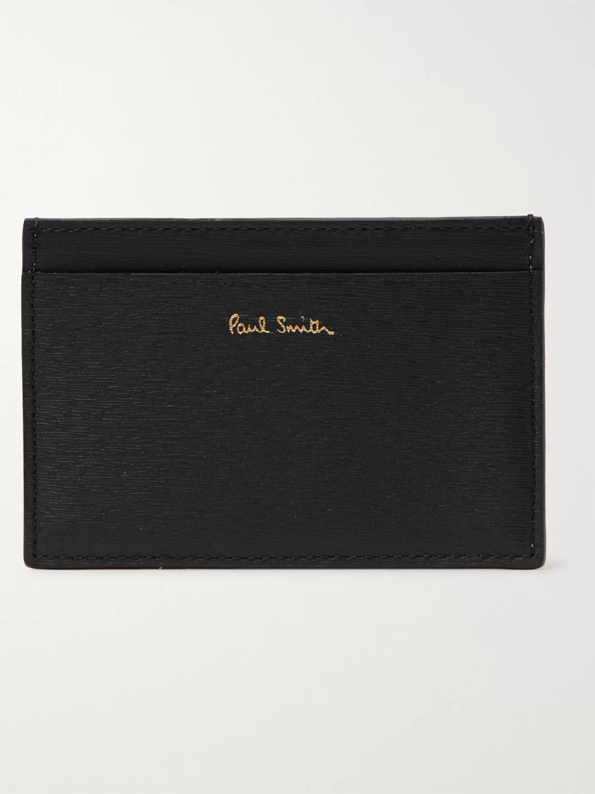 Paul Smith Colour-Block Textured-Leather Cardholder
