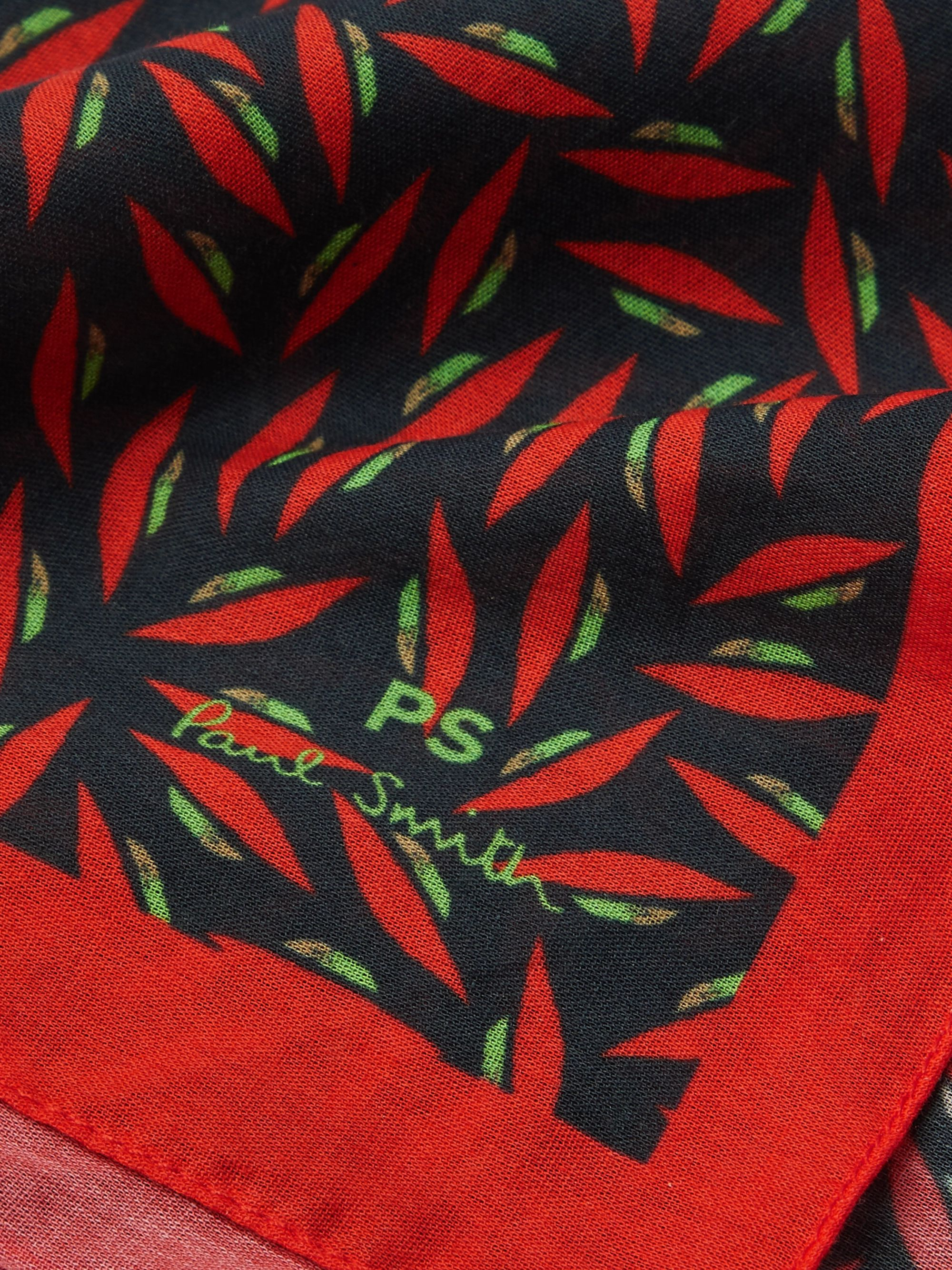 Paul Smith Printed Cotton Pocket Square