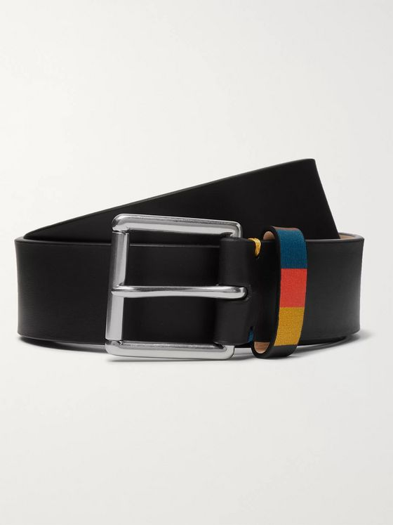 Paul Smith 3.5cm Black Leather Belt