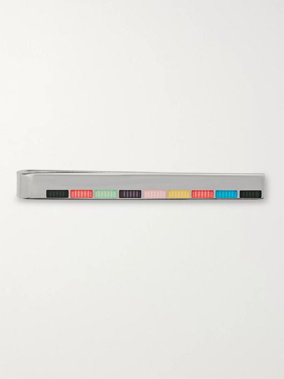 Paul Smith Silver-Tone and Enamel Tie Bar