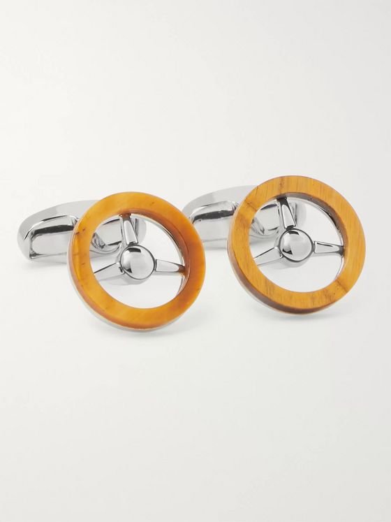 Paul Smith Silver-Tone and Stone Cufflinks