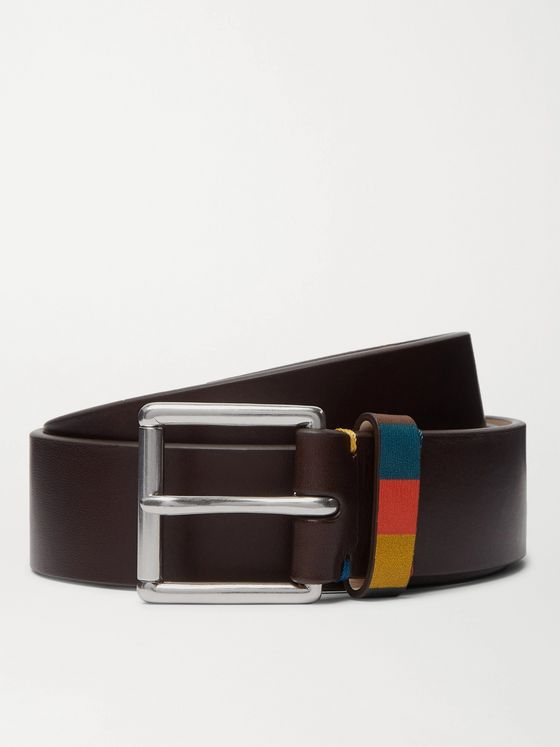 PAUL SMITH 3.5cm Brown Leather Belt
