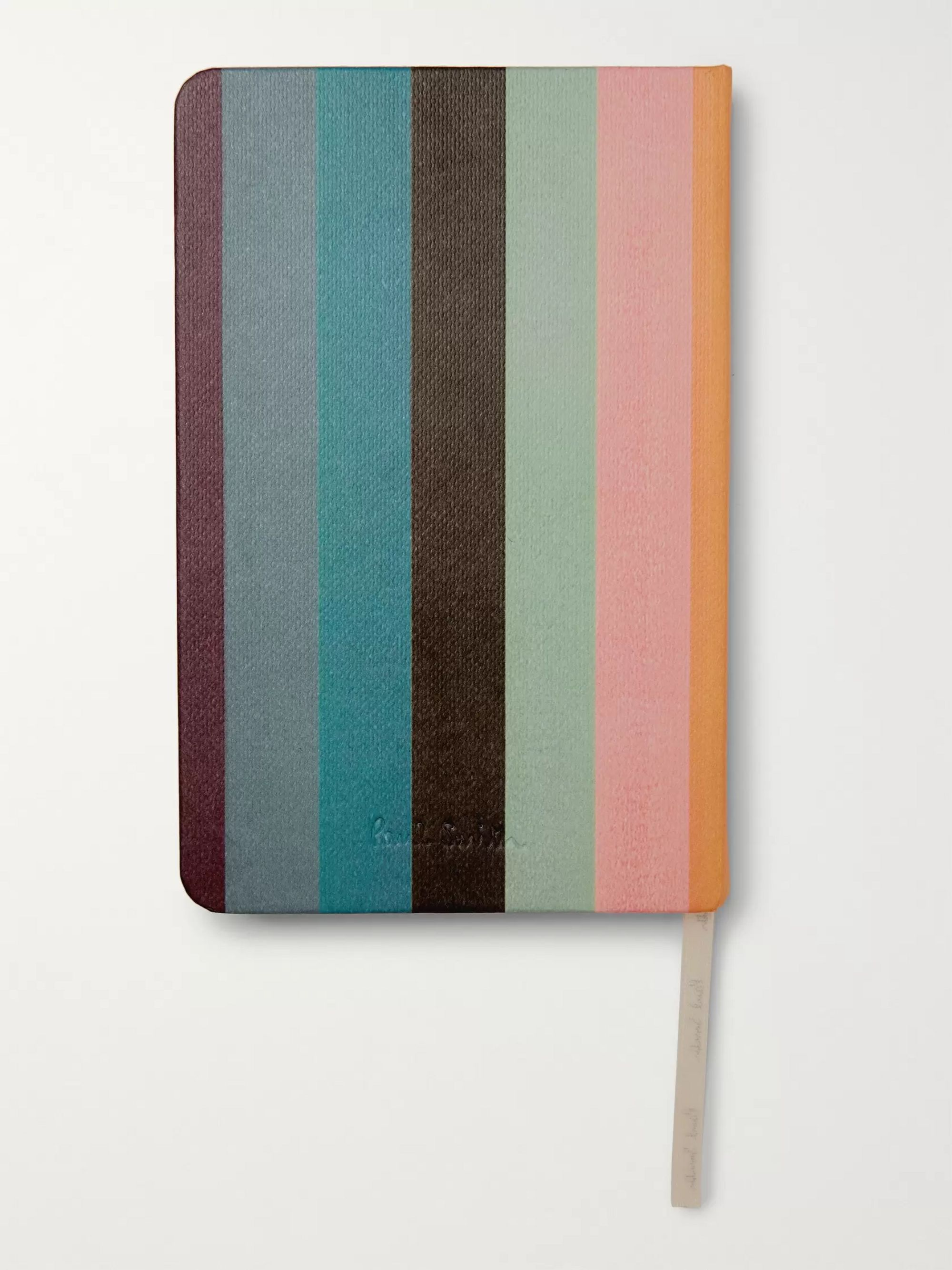 Paul Smith Striped Canvas Notebook