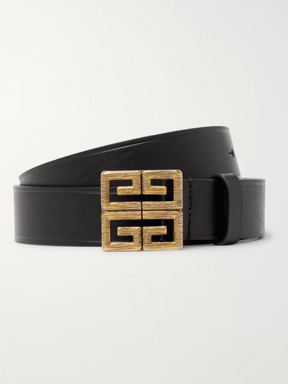 Givenchy 3cm Black Leather Belt