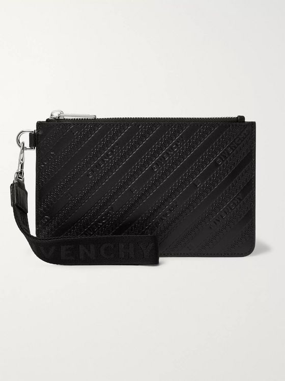 Givenchy Logo-Debossed Leather Pouch