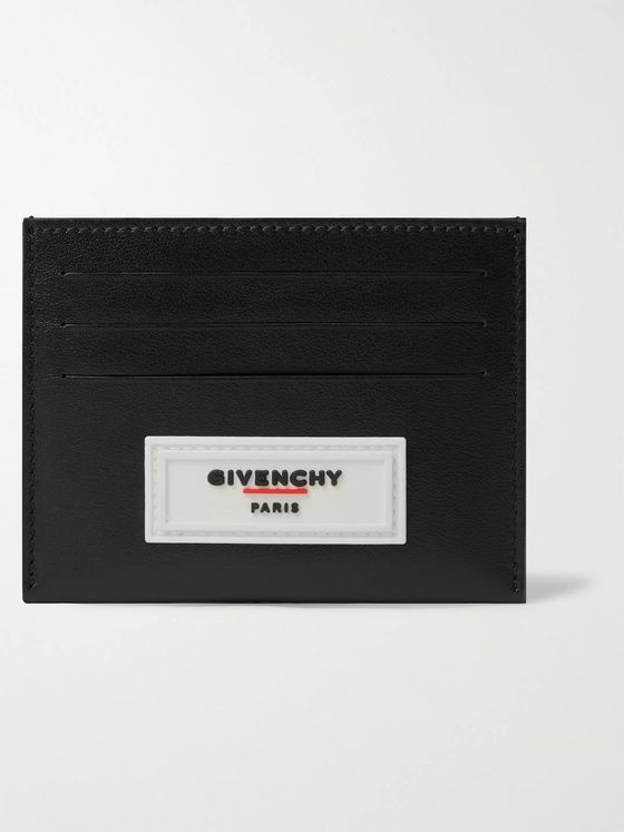 Givenchy Logo-Appliquéd Rubber-Trimmed Leather Cardholder