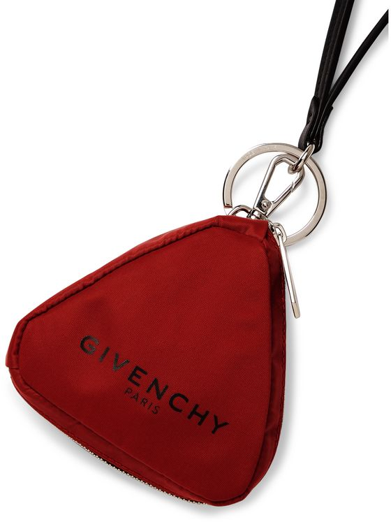 Givenchy Logo-Print Nylon Pouch with Lanyard