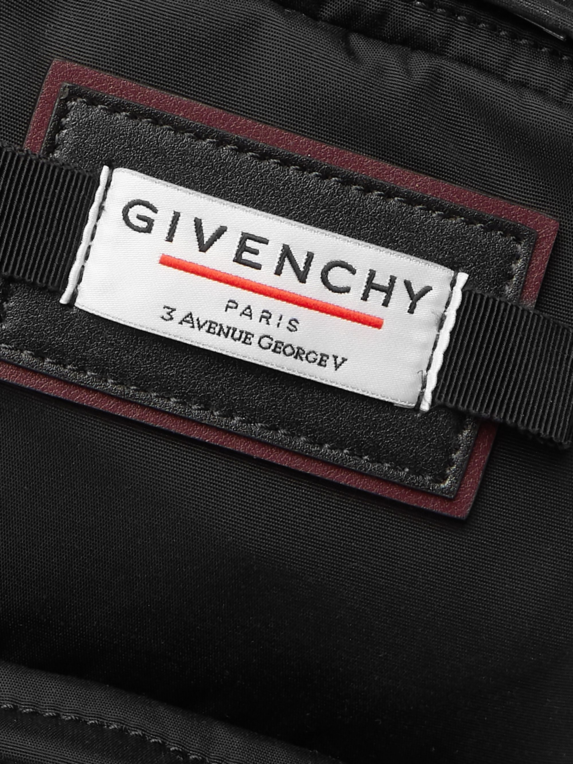 Givenchy Downtown Leather-Trimmed Canvas Messenger Bag