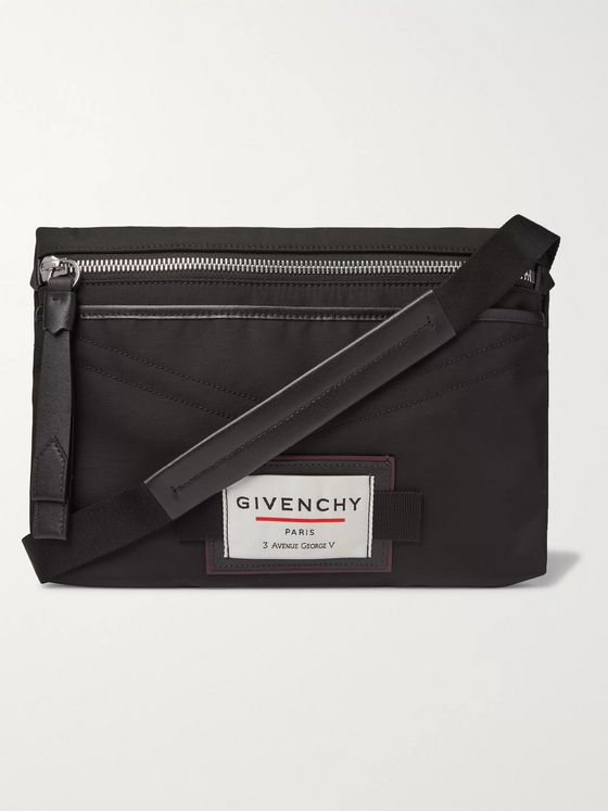 Givenchy Downtown Leather-Trimmed Shell Messenger Bag