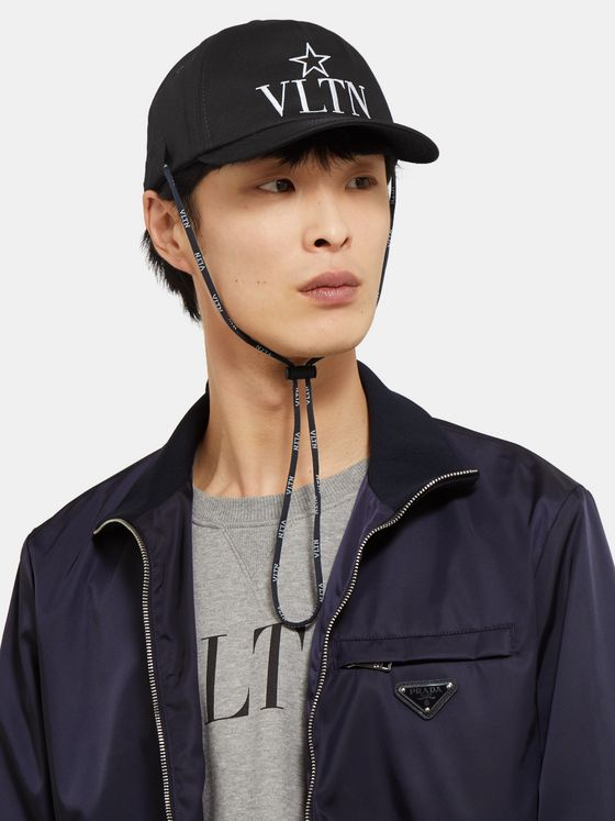 Valentino Valentino Garavani Logo-Embroidered Cotton-Twill Baseball Cap