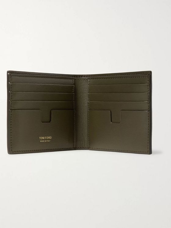 TOM FORD Textured-Leather Bifold Wallet