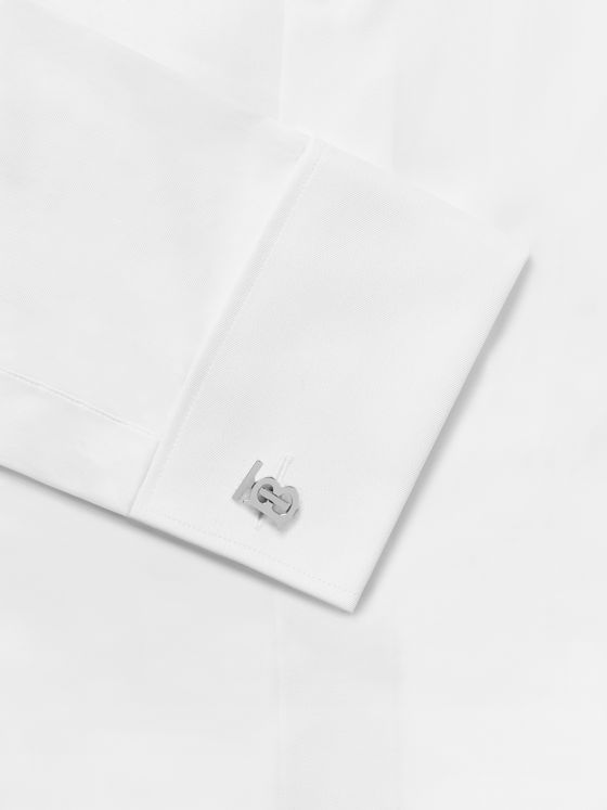 Burberry Logo-Detailed Silver-Tone Cufflinks