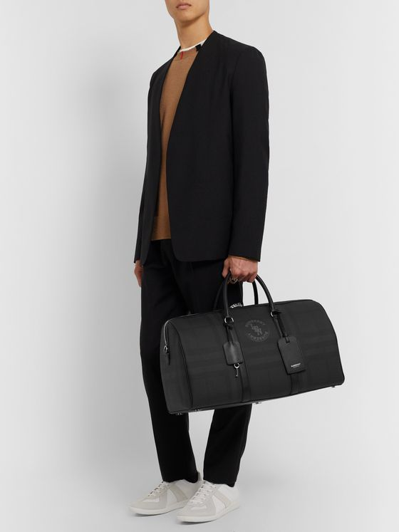 Burberry Checked Canvas Holdall