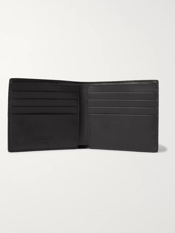 Burberry Logo-Embossed Leather Billfold Wallet