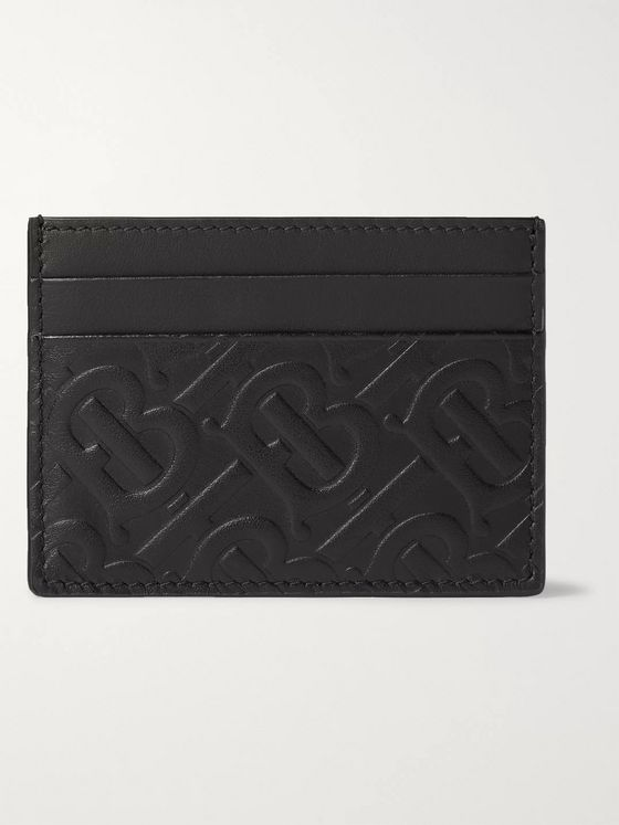 Burberry Logo-Embossed Leather Cardholder