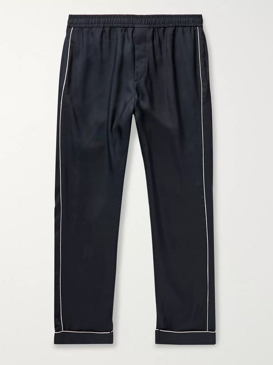 Valentino Piped Silk Trousers