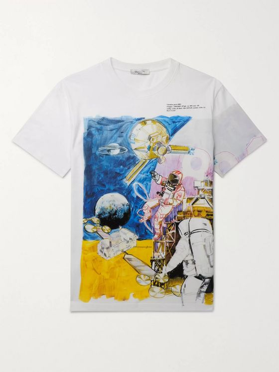 Valentino Slim-Fit Printed Cotton-Jersey T-Shirt