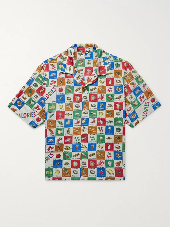 BODE Louie Camp-Collar Printed Cotton-Poplin Shirt